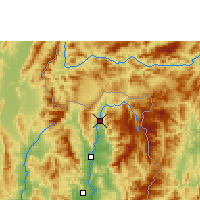 Nearby Forecast Locations - Thung Chang - Map