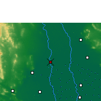 Nearby Forecast Locations - Suphan Buri - Map
