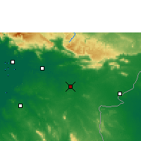 Nearby Forecast Locations - Sa Kaeo - Map