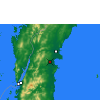 Nearby Forecast Locations - Sawi Agromet - Map