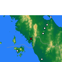 Nearby Forecast Locations - Satun - Map