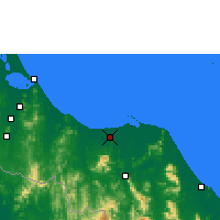 Nearby Forecast Locations - Pattani - Map