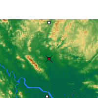 Nearby Forecast Locations - Thái Nguyên - Map