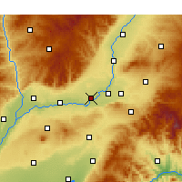 Nearby Forecast Locations - Xinjiang - Map