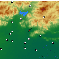 Nearby Forecast Locations - Pinggu - Map