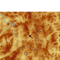Nearby Forecast Locations - Mengla - Map