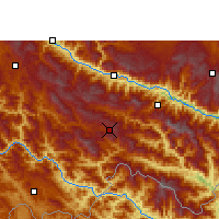 Nearby Forecast Locations - Lüchun - Map