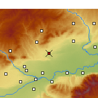 Nearby Forecast Locations - Fuping/SAX - Map