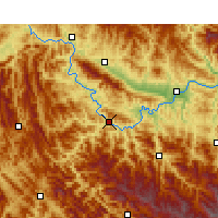 Nearby Forecast Locations - Ziyang/SAX - Map