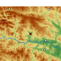 Nearby Forecast Locations - Yunxi - Map