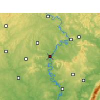 Nearby Forecast Locations - Nanchong - Map