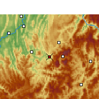 Nearby Forecast Locations - Wansheng - Map