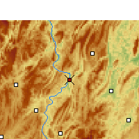 Nearby Forecast Locations - Yanhe - Map