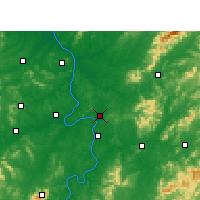 Nearby Forecast Locations - Zhuzhou - Map