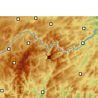 Nearby Forecast Locations - Jianhe - Map