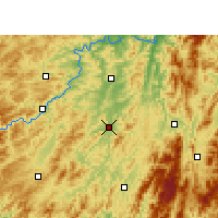 Nearby Forecast Locations - Jingzhou/HUN - Map