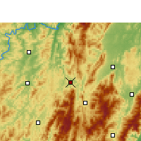 Nearby Forecast Locations - Suining/HUN - Map