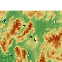 Nearby Forecast Locations - Jiangyong - Map