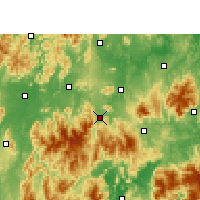 Nearby Forecast Locations - Lanshan - Map