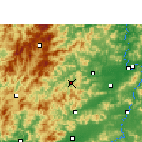 Nearby Forecast Locations - Chongyi - Map