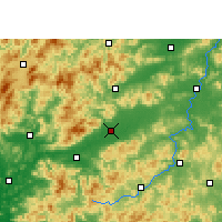 Nearby Forecast Locations - Nanxiong - Map