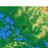 Nearby Forecast Locations - Xishui - Map