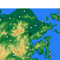 Nearby Forecast Locations - Fenghua - Map