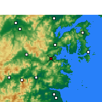 Nearby Forecast Locations - Sanmen - Map