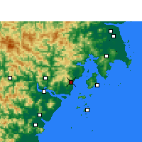 Nearby Forecast Locations - Yueqing - Map