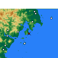 Nearby Forecast Locations - Yuhuan - Map