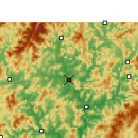 Nearby Forecast Locations - Jianyang - Map