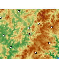 Nearby Forecast Locations - Jian'ou - Map