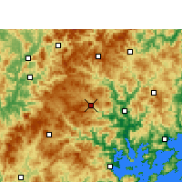 Nearby Forecast Locations - Zhouning - Map