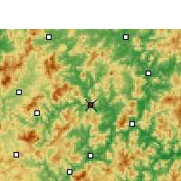Nearby Forecast Locations - Shunchang - Map