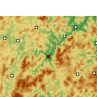 Nearby Forecast Locations - Yong'an - Map