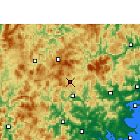 Nearby Forecast Locations - Dehua - Map
