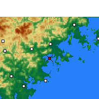 Nearby Forecast Locations - Xiuyugang - Map