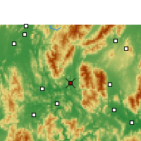 Nearby Forecast Locations - Gongcheng - Map
