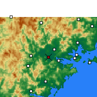 Nearby Forecast Locations - Zhangzhou - Map