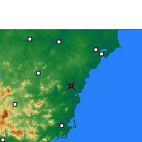 Nearby Forecast Locations - Qionghai - Map