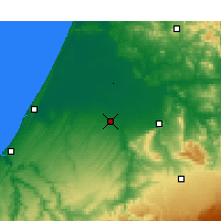 Nearby Forecast Locations - Sidi Slimane - Map