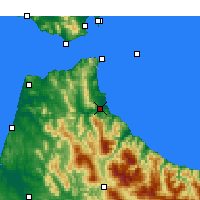 Nearby Forecast Locations - Tétouan - Map