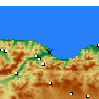 Nearby Forecast Locations - Béjaïa - Map