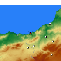 Nearby Forecast Locations - Ghazaouet - Map