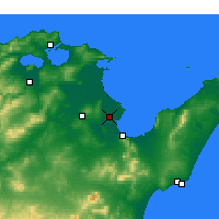 Nearby Forecast Locations - Tunis - Map