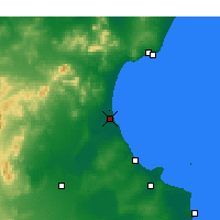 Nearby Forecast Locations - Enfidha - Map