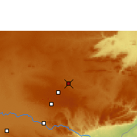 Nearby Forecast Locations - Lusaka - Map
