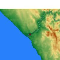 Nearby Forecast Locations - Alexander Bay - Map