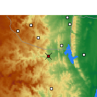 Nearby Forecast Locations - Pongola - Map