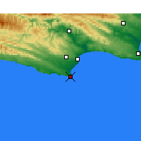 Nearby Forecast Locations - St Francis Bay - Map